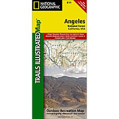 811 Angeles National Forest Trail Map, 2012