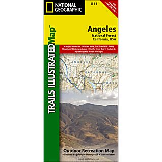 photo: National Geographic Angeles National Forest Trail Map us pacific states paper map