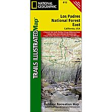812 Los Padres National Forest, East Trail Map