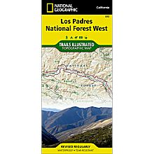813 Los Padres National Forest, West Trail Map, 2012