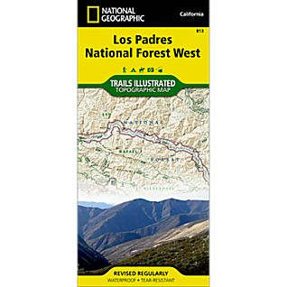 View 813 Los Padres National Forest, West Trail Map image