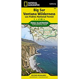 View 814 Big Sur/Ventana Wilderness - Los Padres National Forest Trail Map image