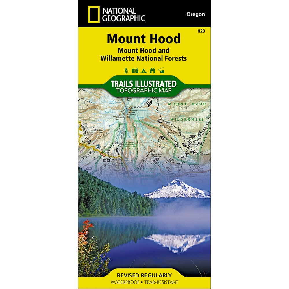National Geographic Mount Hood Map