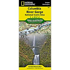 821 Columbia River Gorge Trail Hiking Map