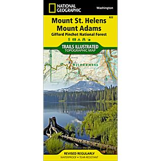 View 822 Mount St. Helens and Mount Adams Wilderness Areas, Gifford-Pinchot National Forest Trail Map image