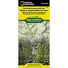 823 Goat Rocks and Norse Peak Wilderness Area, Gifford-Pinchot and Okanogan-Wenatchee National Forests Trail Map