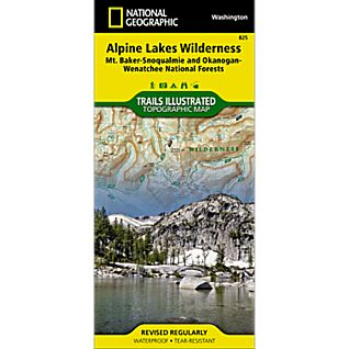 825 Alpine Lakes Wilderness (Mt. Baker-Snoqualmie and Okanogan-Wenatchee National Forests) Trail Map