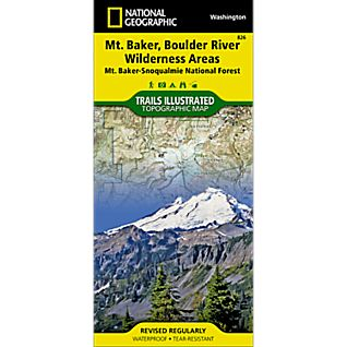 View 826 Mount Baker and Boulder River Wilderness Areas Trails Map image