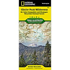 827 Glacier Peak Wilderness (Mt. Baker-Snoqualmie and Okanogan-Wenatchee National Forests) Trail Map