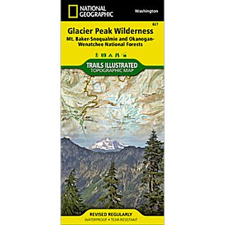 photo: National Geographic Glacier Peak Wilderness Area Map us pacific states paper map