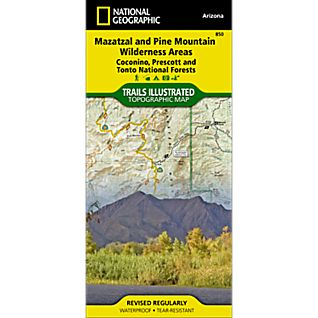 View 850 Mazatzal and Pine Mountain Wilderness Areas Trail Map image