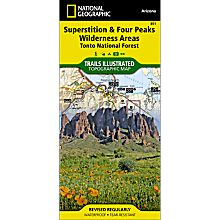 851 Superstition and Four Peaks Wilderness Areas Trail Map