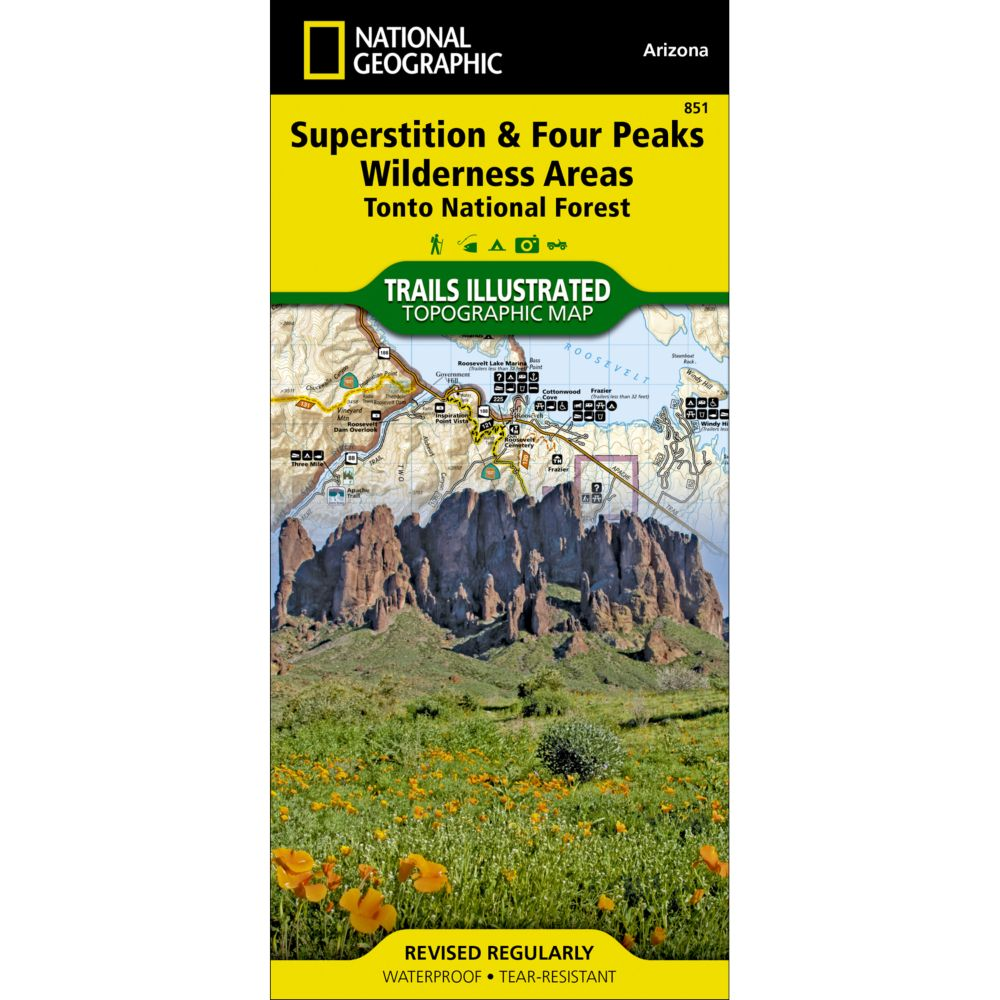 photo: National Geographic Superstition & Four Peaks Wilderness Areas Map