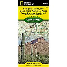 852 Hellsgate, Salome and Sierra Ancha Wilderness Areas Trail Map