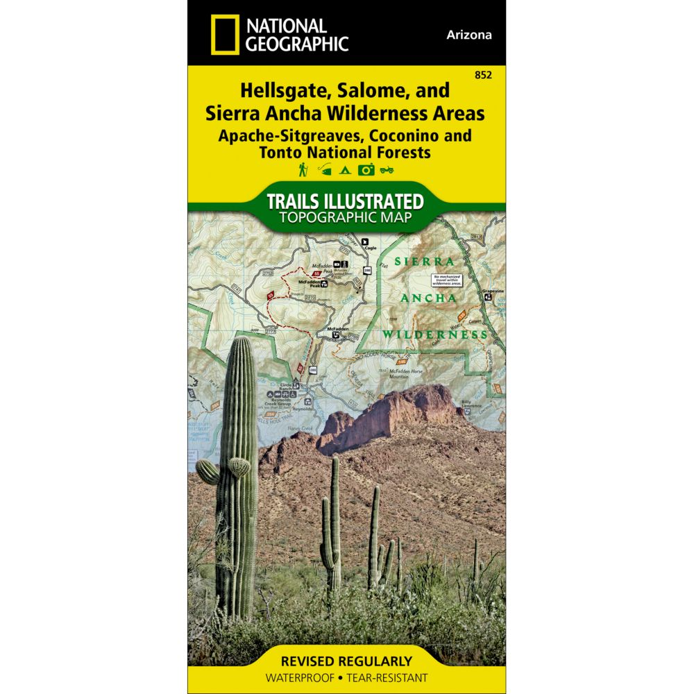 National Geographic Hellsgate, Salome & Sierra Ancha Wilderness Areas Map