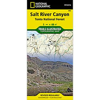National Geographic Salt River Canyon Map