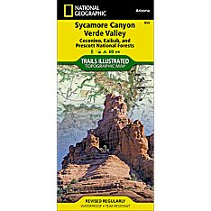 854 Sycamore Canyon / Verde Valley Trail Map, 2010