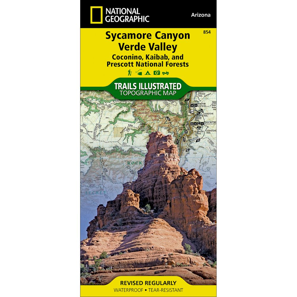 National Geographic Sycamore Canyon/Verde Valley Map