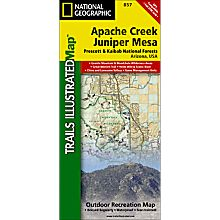 857 Apache Creek and Juniper Mesa Wilderness Areas Trail Map