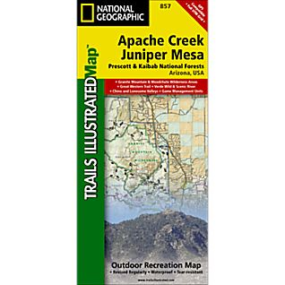 View 857 Apache Creek and Juniper Mesa Wilderness Areas Trail Map image