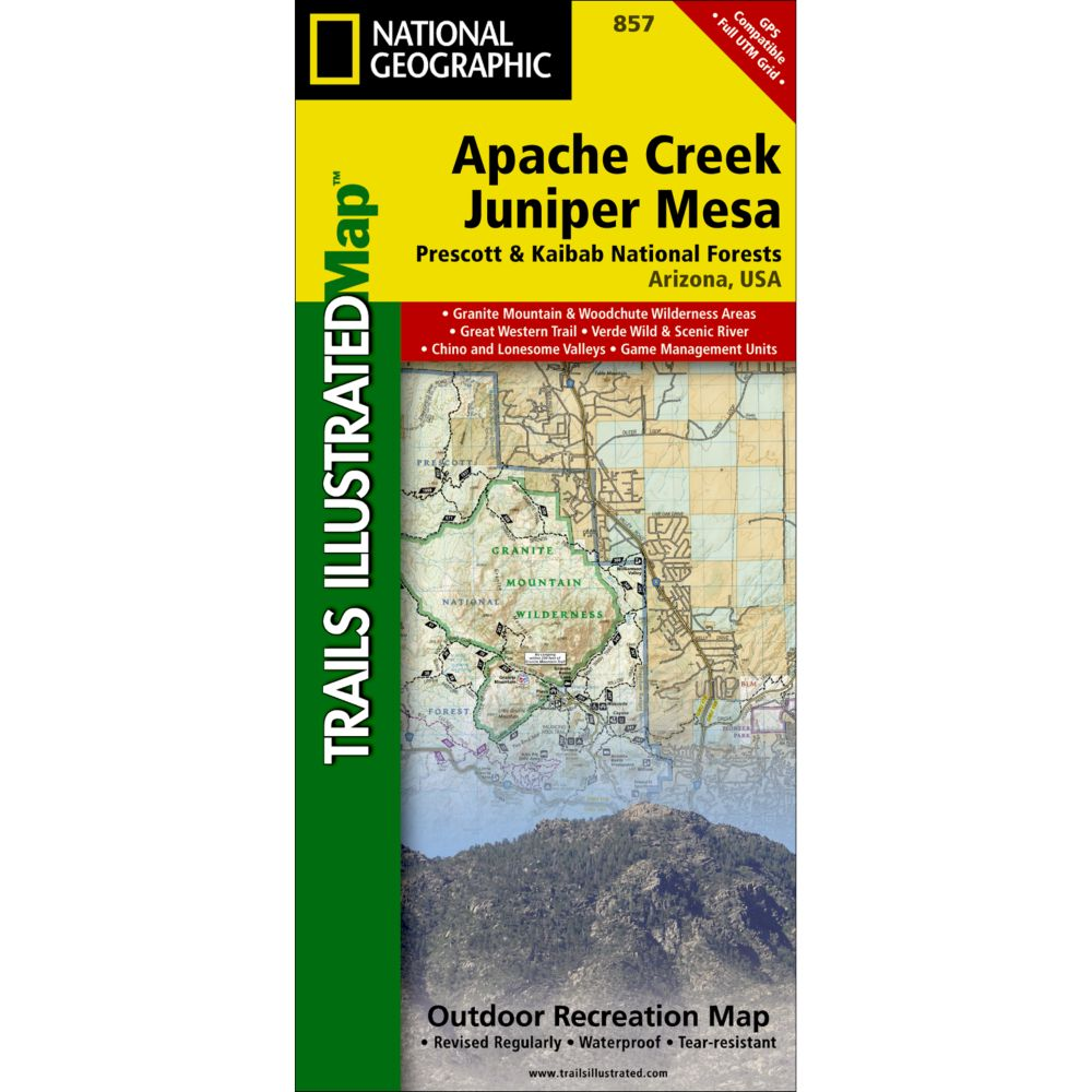 photo: National Geographic Apache Creek & Juniper Mesa Map us mountain states paper map