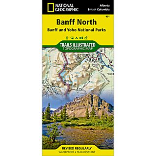 photo: National Geographic Banff North Trail Map