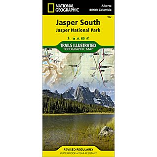 photo: National Geographic Jasper South Trail Map canadian paper map