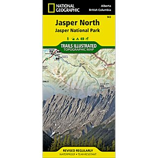 photo: National Geographic Jasper North Trail Map canadian paper map