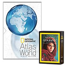 9th Edition Atlas and the Complete National Geographic Set
