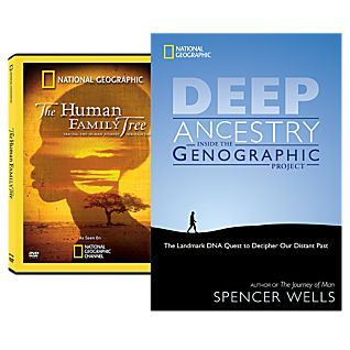 Human Family Tree DVD and Deep Ancestry Book Set