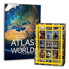 10th Edition Atlas - Hardcover Edition and the Complete National Geographic Gift Set