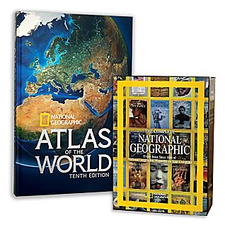 10th Edition Atlas and Complete National Geographic Gift Set