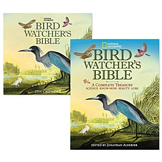 Bird Watcher's Bible and 2014 Wall Calendar Gift Set