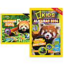 National Geographic 2014 Kids Almanac and Wall Calendar Gift Set