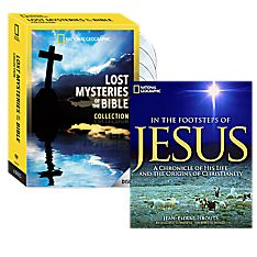 In the Footsteps of Jesus Book and Lost Mysteries of the Bible DVD Collection Set
