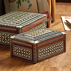 Egyptian Mother-of-pearl Inlaid Boxes