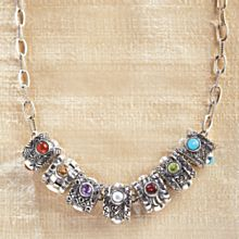 Indonesian Birthstone Necklace and Charms