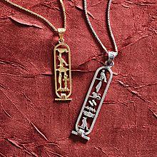 Personalized Egyptian Cartouche Pendants