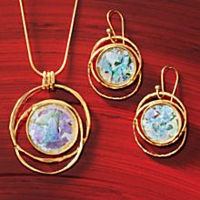 Gold-vermeil Roman Glass Jewelry