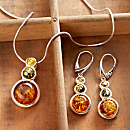 Tricolor Baltic Amber Jewelry