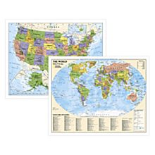 Political World and U.S. Education Maps (Grades 4-12)