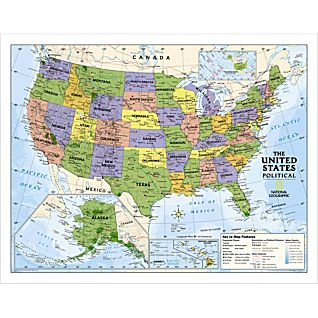 these maps are laminated featuring a write and wipe surface and durable plastic covering