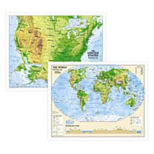 Physical World and U.S. Education Maps (Grades 6-12)