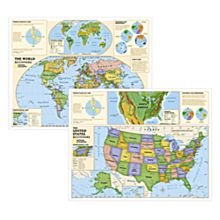 Beginners World and U.S. Education Maps (Grades K-3)