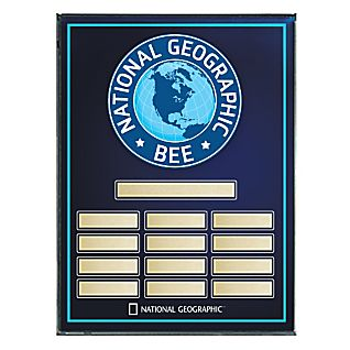 National Geographic Bee Award Plaque