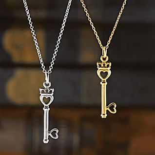 Irish Claddagh Key to My Heart Pendants