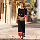 Black Bandhani Shirt, Skirt, and Pants