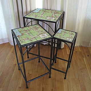 Personalized National Geographic My Town TOPO! Map Tables