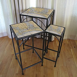 Custom Nautical Tile Tables