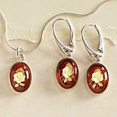 Amber Rose Intaglio Jewelry
